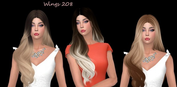 Sims Fun Stuff: Wings 208 hair retextured for Sims 4