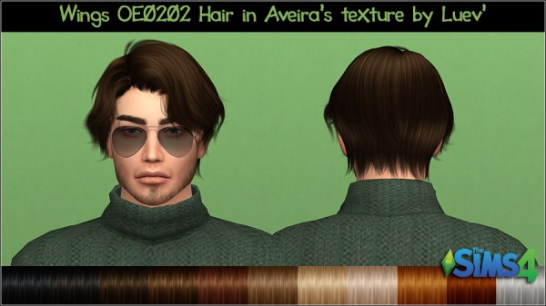 Mertiuza: Wings OE0202 hair retextured for Sims 4