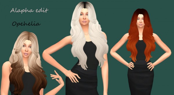 Sims Fun Stuff: Leahlillith`s Ophelia hair retextured for Sims 4