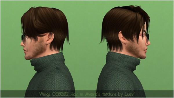 Mertiuza: Wings OE0202 hair retextured for Sims 4
