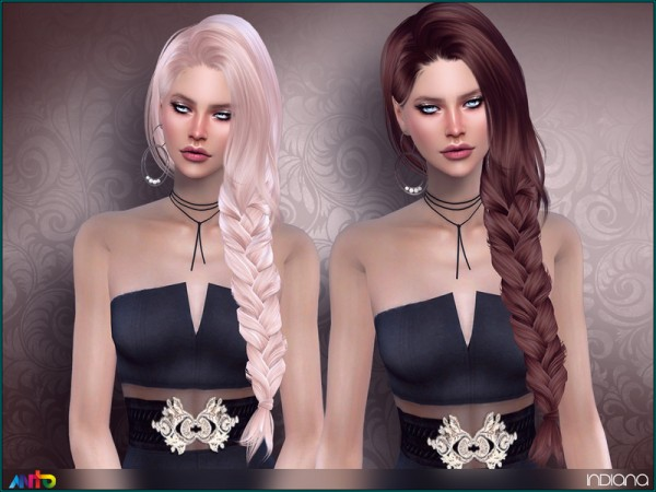 The Sims Resource: Indiana hair by Anto for Sims 4
