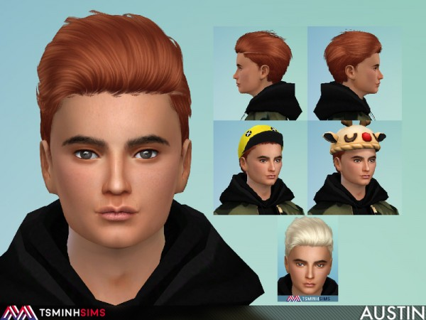 The Sims Resource: Austin Hair 54 by TsminhSims for Sims 4