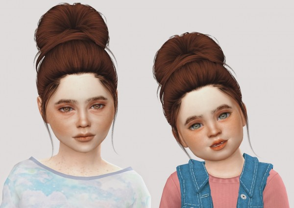 Simiracle: Nightcrawler`s Flirt hair retextured for Sims 4