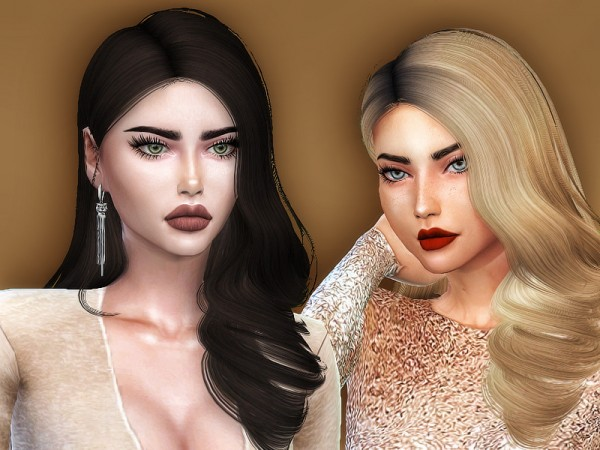 The Sims Resource: Tidal hair retextured by Sharareh for Sims 4