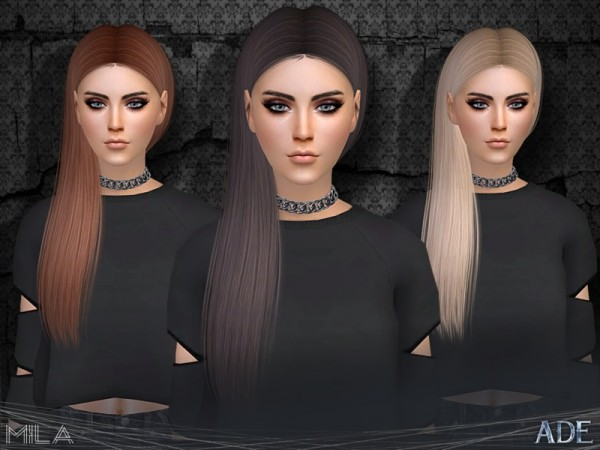The Sims Resource: Mila hair by Ade Darma for Sims 4