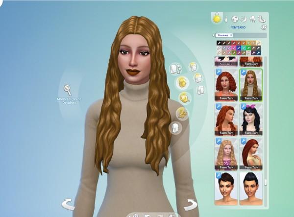 Mystufforigin: Avery Hair retextured for Sims 4