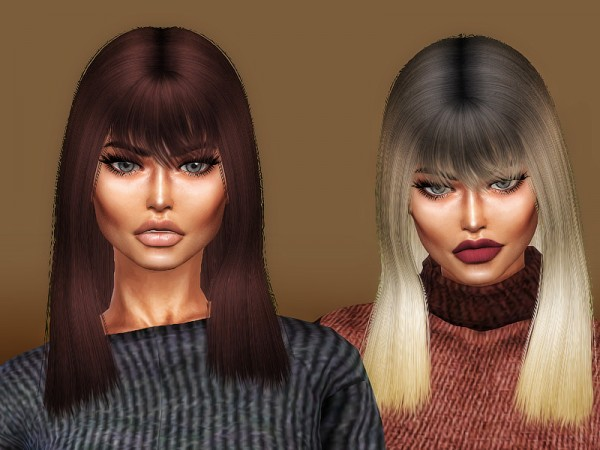 The Sims Resource: Rayza hair medium version retextured by Sharareh for Sims 4