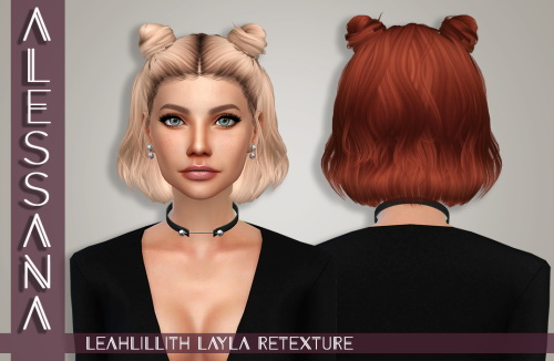 Alessana Sims: Leahlillith`s Layla Hair retextured for Sims 4