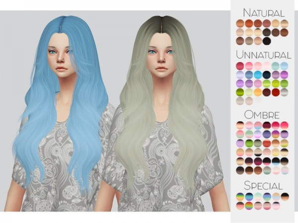 The Sims Resource: Leahlillith`s Ophelia hair retextured by Kalewa a for Sims 4