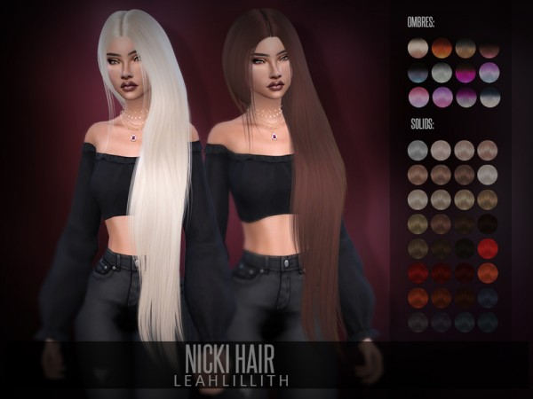 The Sims Resource: Nicki Hair by Leah Lillith for Sims 4
