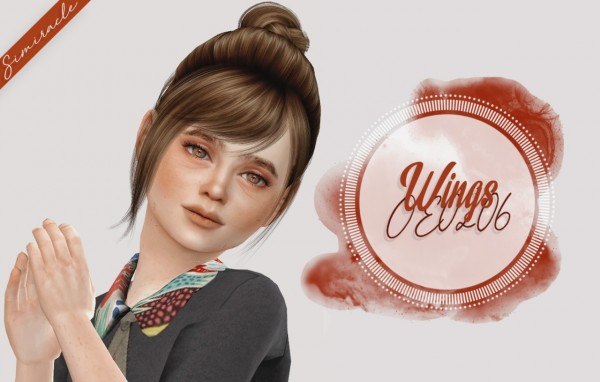 Simiracle: Wings OE0206 hair retextured   Kids Version for Sims 4