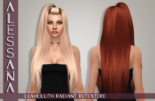 Alessana Sims: Leahlillith`s Radiant Hair retextured for Sims 4