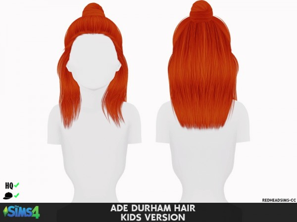 Coupure Electrique: Adedarma`s Durham hair retextured   kids and toddlers version for Sims 4