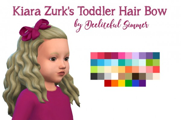 Deelitefulsimmer: Toddler hair bor retextured for Sims 4