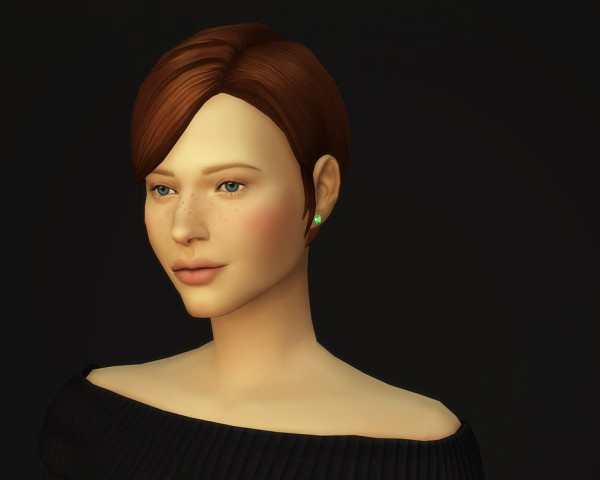 Rusty Nail: Medium straight parted V3 for Sims 4