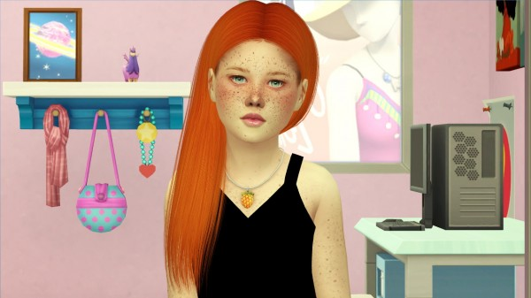Coupure Electrique: AdeDarma`s Mila hair rextured for kids and toddlers for Sims 4