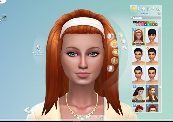 Mystufforigin: Frances Hair for Sims 4