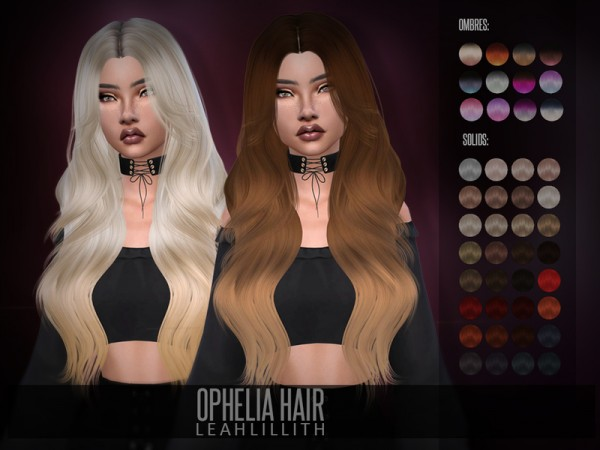 The Sims Resource: Ophelia Hair by Leah Lillith for Sims 4