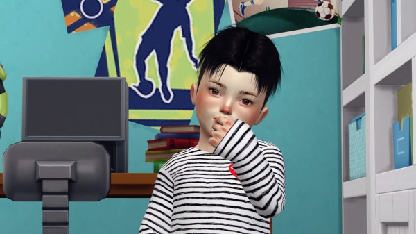 Coupure Electrique: Lapiz Malkavian hair retextured for Sims 4