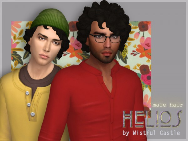 The Sims Resource: Helios hair by WistfulCastle for Sims 4
