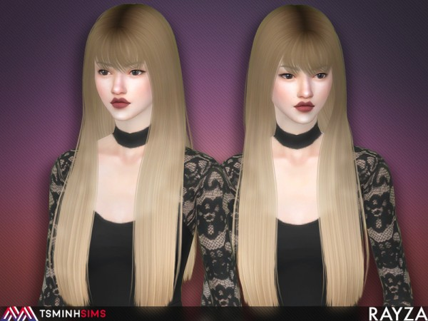 The Sims Resource: Rayza Hair 56 Set by TsminhSims for Sims 4