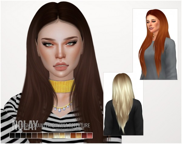 Mod The Sims: Nightcrawler`s Dayana Retextured by Nolay for Sims 4