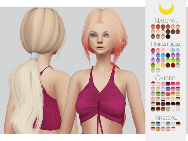 The Sims Resource: LeahLillith`s Frequency hair retextured by Kalewa a for Sims 4