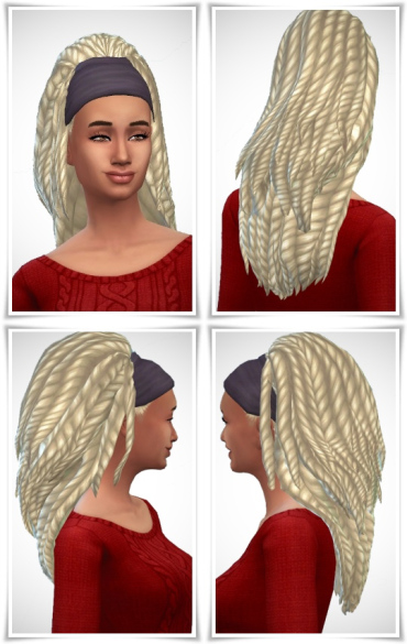 Birksches sims blog: Bandana Dreads hair for Sims 4