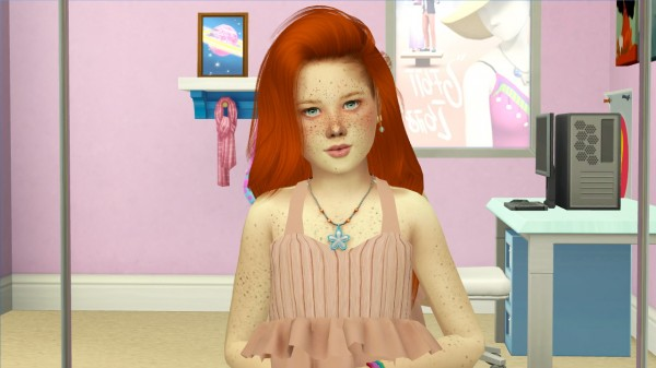 Coupure Electrique: Simpliciaty`s Fireproof hair retextured   kids versions for Sims 4