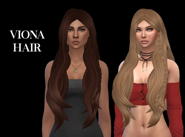 Leo 4 Sims: Viona hair recolored for Sims 4