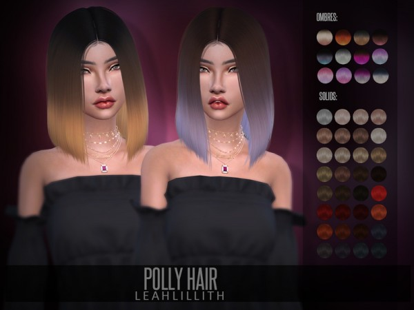 The Sims Resource: Polly Hair by LeahLillith for Sims 4