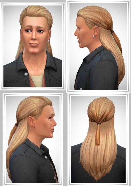 Birksches sims blog: JohnnyW's Ponytail hair for Sims 4