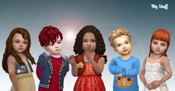Mystufforigin: Toddlers Hair Pack 19 for Sims 4