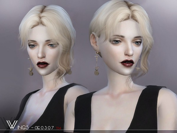 The Sims Resource: WINGS OE0307 hair for Sims 4