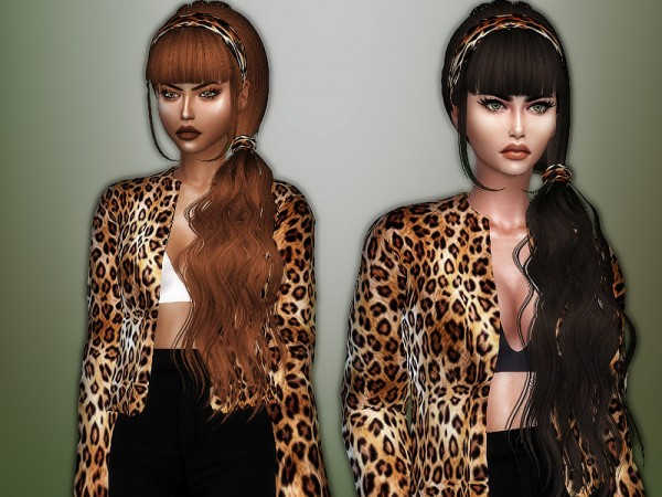 The Sims Resource: Skysims 063 hair retextured by Sharareh for Sims 4