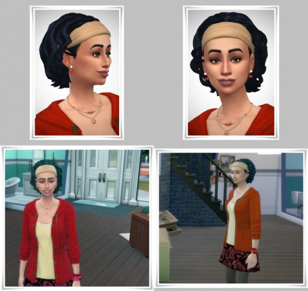 Birksches sims blog: More Curls with Bandana hair for Sims 4