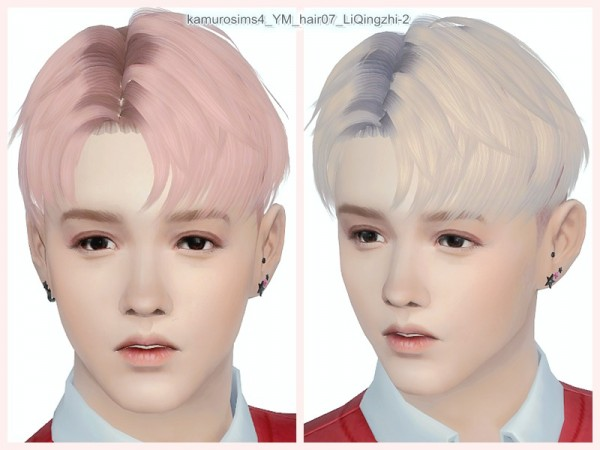 The Sims Resource: LiQingzhi 2 hair 07 retextured by loli 315 for Sims 4