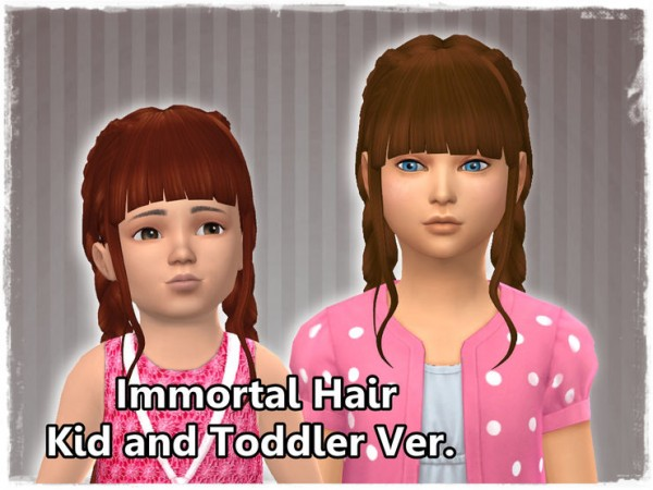 Mikerashi: Immortal Hair Kids and Toddler Versions for Sims 4