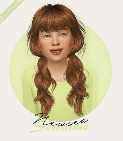 Simiracle: Newsea`s Seasame hair retextured   Kids Version for Sims 4