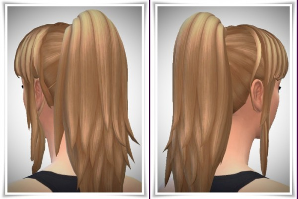 Birksches sims blog: Lina's Ponytail and Bangs hair for Sims 4