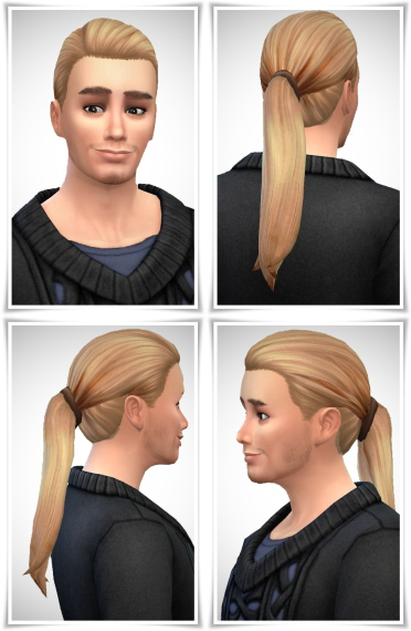 Birksches sims blog: Gents Long Ponytail hair for Sims 4