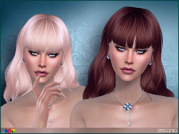 The Sims Resource: Stefania Hair by Anto for Sims 4