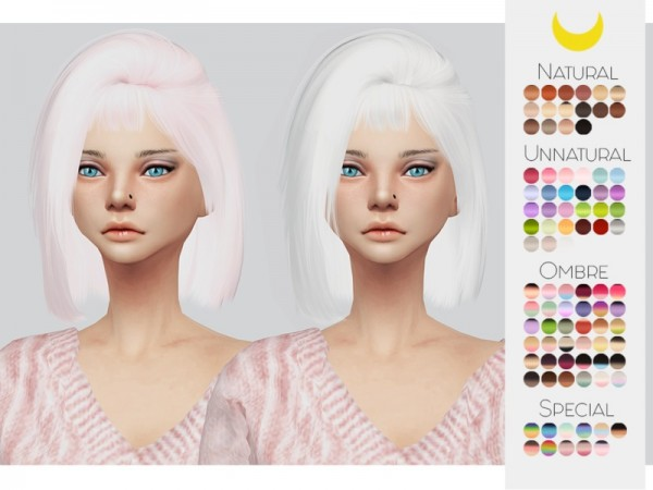 The Sims Resource: LeahLillith`s Hoola hair retextured by Kalewa a for Sims 4