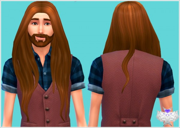 David Sims: Rose hair for her for Sims 4
