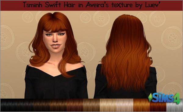 Mertiuza: Tsminh`s Swift hair retextured for Sims 4