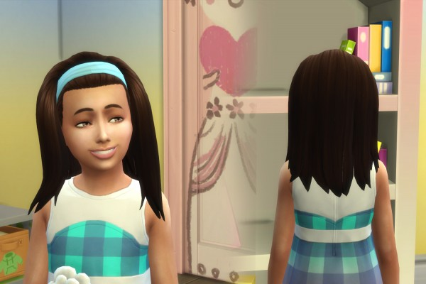 Mystufforigin: Frances Hair retextured for girls for Sims 4