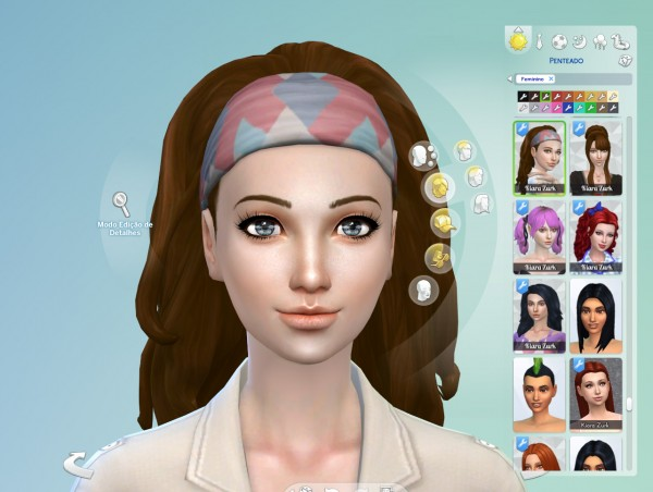 Mystufforigin: Long Wavy Bandana hair retextured for Sims 4
