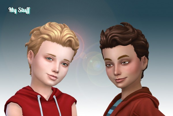 Mystufforigin: Swept Back Wavy for Boys for Sims 4