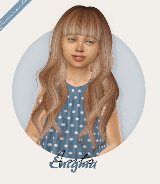 Simiracle: Anto`s Enigma hair retextured   Kids Version for Sims 4