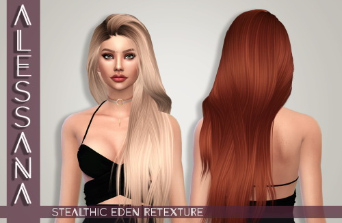 Alessana Sims: Stealthic`s Eden hair retextured for Sims 4